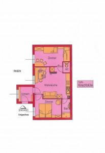 Wohnungsplan - Ferienwohnung Kirschenblüte