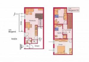 Wohnungsplan -Ferienwohnung Morgenrot