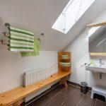 Badezimmer im Obergeschoß der Wohnung Morgenrot
