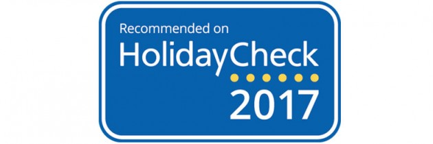 Recommendet on HolidayCheck 2017